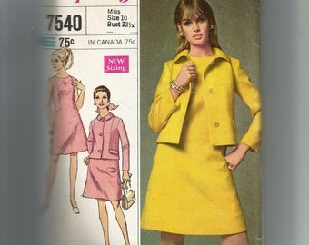 Simplicity Misses' Dress and Jacket Pattern 7540