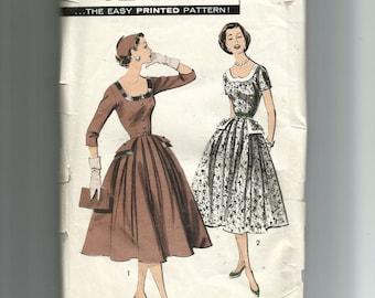 Advance Misses' Portrait Dress Pattern 8176