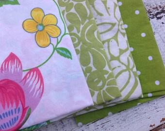 Fat Quarter Bundle-Reclaimed Bed Linens -Green Thumb