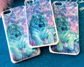 Radical Neon Tiger Glitter Phone Case for iPhone 4/4S, 5S, 5c or 6