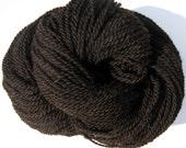Alpaca and Merino Yarn, Natural Black Yarn, Grown in Michigan, 250 yards, FREE SHIPPING