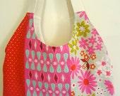 Retro Mod Graphic Linen Handmade Tote Bag