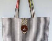 Big Ticking Tote Bag