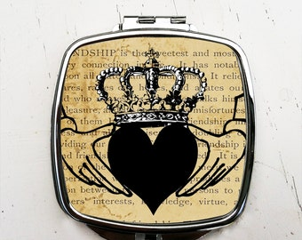 Claddagh Compact Pocket Mirror