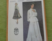 Vintage 70s Simplicity 8907 Gunne Sax Skirt and Blouse Sewing Pattern size 12 UNCUT