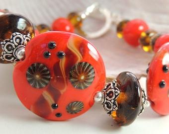 SPLENDOR Handmade Lampwork Bead Bracelet
