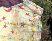 Batik Rainbow Colors Moon and Star Baby/Toddler Quilt