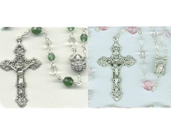 October Birthstone Rosaries ~ Green or Pink Tourmaline