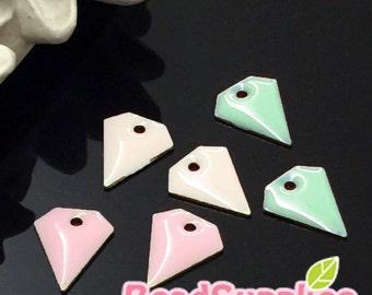 CH-EX-08094SA1 - Brass,Petite diamond charm, trio of softy, 6 pcs