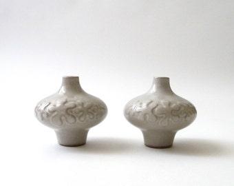 Robert Maxwell Ceramic Vase Set of 2  California Modern Weed Pot