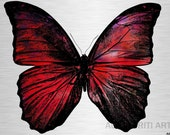 Butterfly printable download poster insect nature childrens colourful print download pop art red