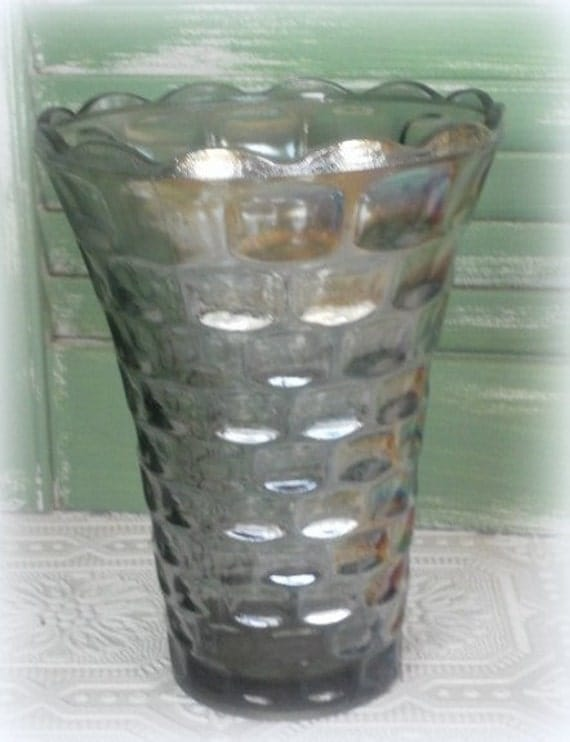 Vintage 1970's Carnival Glass Flower Vase By Colonial Federal Co.