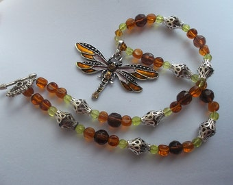 Mystical Dragonfly Pendant necklace