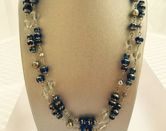 Blue Bubbles Wrap Around Necklace