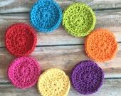 Cotton Cleansing Pads - Hand Crochet Multi-Colors