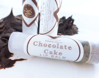 CHOCOLATE CAKE Lip Balm- Natural Cocoa Lip Tint (Valentine's Sale)
