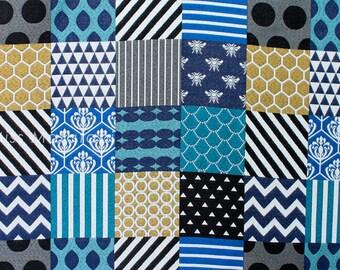 Japanese Fabric Kokka Echino Jacquard - Piece - A - 50cm
