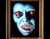 Captain Howdy - Original Drawing - Pazuzu Regan MacNeil Exorcist Horror Vintage Classic Dak Art Creepy Scary Priest Gothic Evil Lowbrow Art
