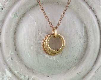 Twisted Rings Necklace