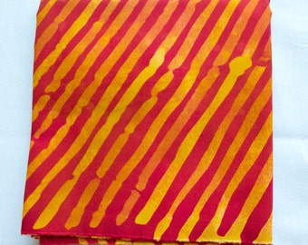 Bias Stripes Hand Dyed and Patterned Fabric