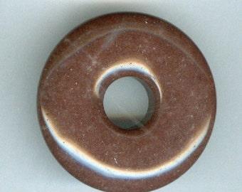 35mm Brown Jasper Donut Pendant