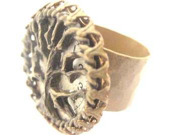Tree of Life  ..... Steampunk Filigree Ring