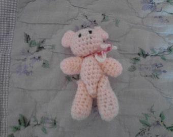 4in Light Pink Teddy Bear