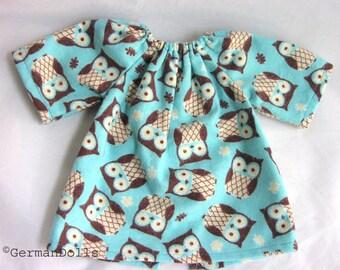 Waldorf doll dress, 14 15 16 inch nightgown, for cloth doll, bitty baby, handmade dolls