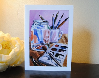 The Artist's Supplies Watercolor Print Notecard