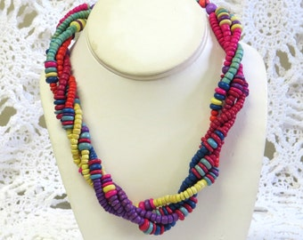 Vintage 4 Strand S. PACIFIC Necklace