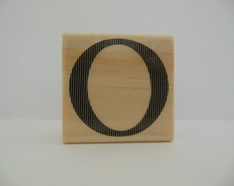 Letter O Rubber Stamp - Modern Monogram Collection - Wood Mounted Rubber Stamp - Initial - Monogram - Alphabet