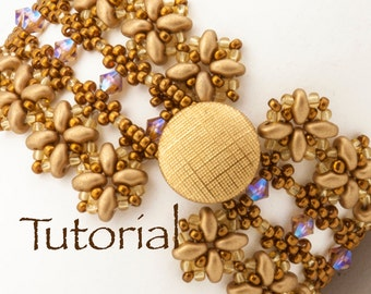 Lacy SuperDuo and seed bead bracelet tutorial Asma