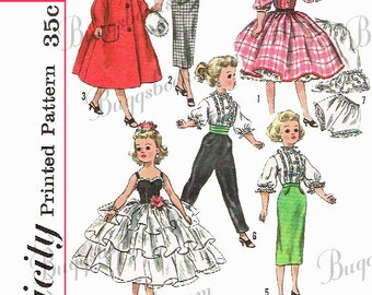 Simplicity 2293- 21 inch Revlon, Dollikin, Cissy and sweet sue doll clothes sewing patterns