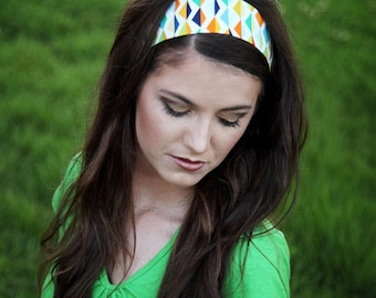 Fabric Headbands, Colorful Headbands, Fabric Head Band, Colorful Head Band, Multicolored, Cute Headband, Soft Headband, Elastic at the Back