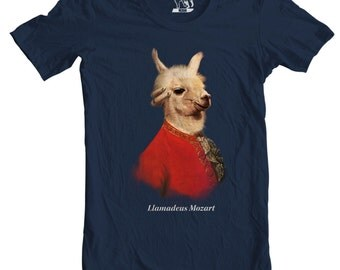 Llamadeus Mozart Tee, Men's T-Shirt, Llamas, Llama Mozart Tee, T Shirt, Amadeus, Funny Mens Tees, Piano, Awesome Cool Music Shirts, Alpaca