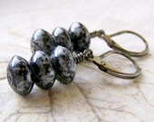 Black Beaded Earrings - Gunmetal Black Earrings - Women's Earrings - Dangle Earrings - Black Dangle Earrings - Casual Black Earrings