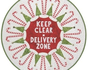 SALE - Delivery Zone Fireplace Decoration - From Laurie Tigner Designs - 14.95 Dollars