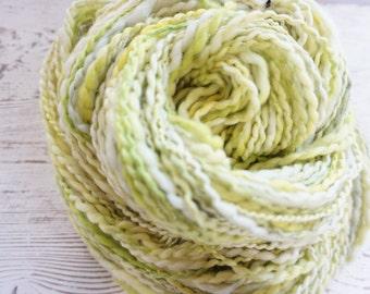 Superfine Merino Worsted Handspun Yarn, Hand Spun Yarn, Metallic, Thread