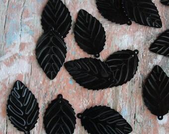 Vintage Large Leaf Sequins 50pc