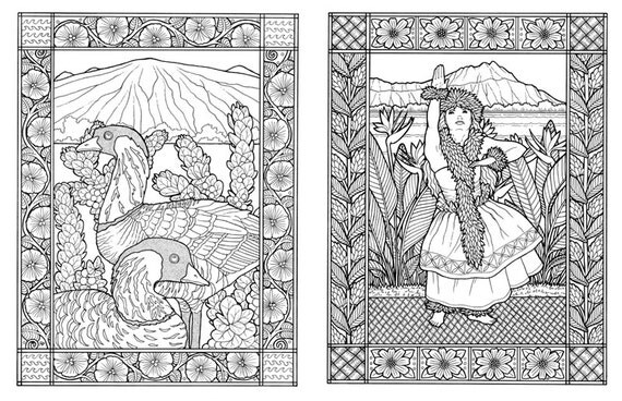 nani hawaii a coloring book of hawaii for adults and children - Hawaii Coloring Book