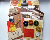 Vintage Gobble Gobble Scrapbook Mini Album Embellishment Kit