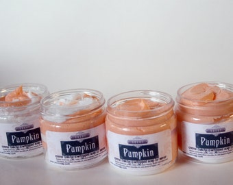 Whipped Soap Pumpkin 2 oz Mini Creme Fraiche Trial Sample Size VEGAN