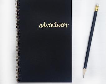 gold foil notebook - adventures