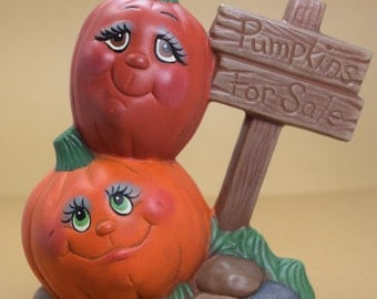 Pumpkin Patch Pals - Halloween Decoration - Fall Decor - Autumn Decor  - Ceramic pumpkins - Halloween Display Pumpkins - Cute pumpkins