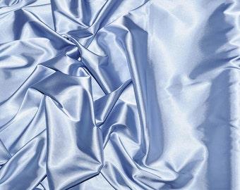 "Stretch Satin Baby Blue  fabric 52"" wide...bridal, lingerie , home decor, pajama's, sleep wear, formal wear"