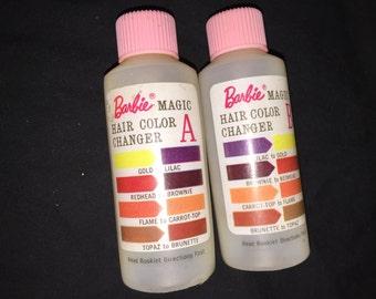 Vintage Barbie Color Magic Hair Color Bottles