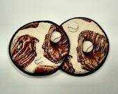 Baseball Mitts Cloth Coaster Set of 2    Set #31