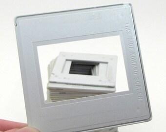 50 Photo Slide Frames - Plastic Frames - 35mm slides frames - scrapbooking - collage - assemblage