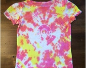 Pink Yellow and Orange Tie Dyed Shirt 5T