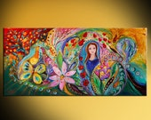 Jewish history original canvas wall art interior design giclee print Home & Living Tanakh story painting Wall Decor Housewares Wall hangings